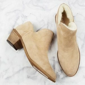 Kelsi Dagger|Suede Fur Lined Pointed Toe Booties